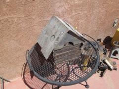 scrap metal little house